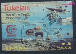 Tokelau Block4II (kompl.Ausg.) Gestempelt 1995 Chinesisches Neujahr - Singapur (9294096 - Tokelau