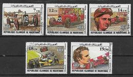 MAURITANIA 1981 GRAN PREMIO AUTOMOBILE CLUB DI FRANCIA YVERT. 491-495 USATA VF - Mauritania (1960-...)