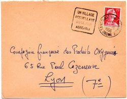 DROME - Dépt N° 26 = St DONAT S/ L'HERBASSE 1956 = Flamme DAGUIN ' VILLAGE / ACCUEILLANT / SEJOUR / AGREABLE ' - Annullamenti Meccaniche (Varie)