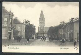 +++ CPA  - BOURG LEOPOLD -* LEOPOLDSBURG - Place Royale - Carte Animée   // - Leopoldsburg