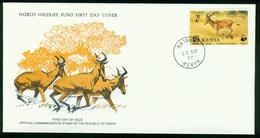 FD Kenia FDC 1977 | MiNr 89 | WWF, Weltweiter Naturschutz, Geschützte Tiere, Kuhantilope - Kenya (1963-...)