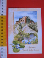 G.2 ITALIA GATTINARA VERCELLI - CARD NUOVA - 2013 MOSTRA CARTOLINE CASTELLO SAN LORENZO RUDERI UVA VINO WINE VERTICALE - Bâtiments & Architecture