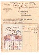 FACTURE + TRAITE CHOCOLAT ROZAN 1929 - France