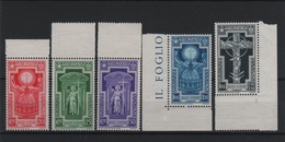 1933 Anno Santo Serie Cpl MNH Bordo Foglio ++++ - 1900-44 Victor Emmanuel III