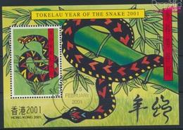 Tokelau Block22I (kompl.Ausg.) Gestempelt 2001 Chinesisches Neujahr - Hong Kong (9294052 - Tokelau
