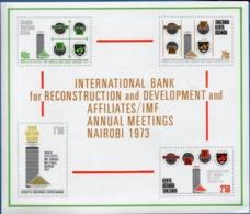 Kenya, Tanzania, Uganda - Eat Africa 1973 IMF Meeting Nairobi Block Issue MNH Reconstruction And Development - Usines & Industries