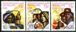 DDR - Mi 2019 / 2021 Einzeln - OO Gestempelt (A) - Internationales Jahr Der Frau - DDR