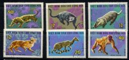 NORD VIETNAM, NORTH VIET-NAM 1967, Yv. 535/40, FAUNE SAUVAGE, 6 Valeurs,  Oblitérés / Used. R296 - Other