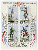 RC 11926 FRANCE BF N° 10 PERSONNAGES DE LA RÉVOLUTION BLOC FEUILLET NEUF ** A LA FACIALE - Nuovi