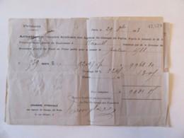 France - Primata Achetés à La Chambre Syndicale Des Agents De Change De Paris (x 3 Pièces Agrafées) - 1873 / 1874 - Banque & Assurance