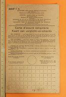 CARTE D'ASSURE OBLIGATOIRE   1953 - Italia
