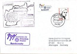 """(BWFP2) CACHET-Umschlag NATO-Einsatz BW Feldpost ISAF Deutscher Kontingent """"Hilfe Für Afghanistan"""" 25.5.05 Feldpost 6430 - BRD"""