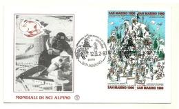 1997 - San Marino 1541/44 Mondiali Di Sci Alpino - FDC - Sci