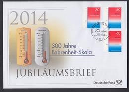 Bund Jubiläumsbrief 2014 Mi.Nr. 3109 ESST Berlin 300 Jahre Fahrenheit-Skala - BRD