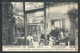 +++ CPA  - GENT - Exposition De GAND 1913 - Stand Fabrication Cigarettes ALBA - Tabacs   // - Gent