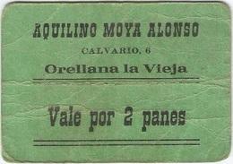 España - Spain Vale 2 Panes Orellana La Vieja (Badajoz) Ref 2 - [ 3] 1936-1975 : Régence De Franco