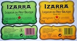 Lot 2 Etiquettes - IZARRA - LIQUEUR Du PAYS BASQUE - Bayonne - Label étiquette /A19 - Etiquettes
