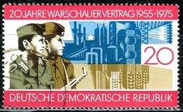 DDR - Mi 2043 - OO Gestempelt (A) - 20Pf            20 Jahre Warschauer Vertrag - DDR