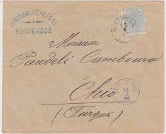 24219 Cover Registered Kustendje To Scio-Cesme 12/08/1892 Chio Island Greece Turkey - GF - 1881-1918: Carol I