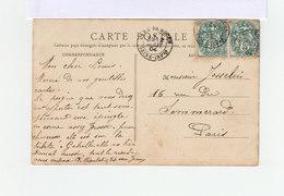 Sur Carte Postale Paire De Type Blanc. CAD Gare De Rouen Seine Infre 1904. (2025x) - 1877-1920: Periodo Semi Moderno