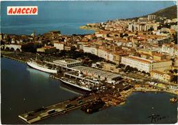 Corse Du Sud Ajaccio Vue Aérienne Vue D'avion Belle Carte - France