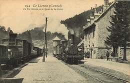 190319 - 15 LE LIORAN Le Pic Griou Et Le Quai De La Gare - Train Loco Chemin De Fer - France