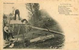 190319 - 15 EN AUVERGNE Les Scieurs De Long - Métier Artisan Bois Montagne Chant Scie - Francia
