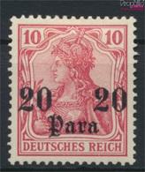 Dt. Post Türkei 25 Mit Falz 1905 Germania Ohne WZ (9288873 - Deutsche Post In Der Türkei