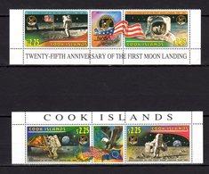 Cook Islands 1994 Space Moon Landing MNH Mi.1404-07 --(cv 16) - Raumfahrt