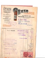 FACTURE DISTILLERIE DE LA  SUZE 1944 - France