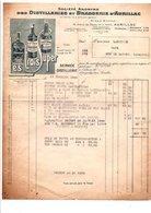 FACTURE DISTILLERIES ET BRASSERIES D'AURILLAC CANTAL 1944 - France