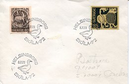 43778 Sweden, Special Postmark  Helsingborg 1972,  Goose  Gans  Oie - Oies