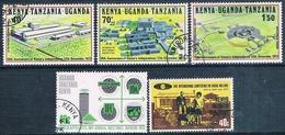 Africa Del Este Britanica 1973 / 74  -  Yvert 252 + 260 / 62 + 273  ( Usados ) - Sellos