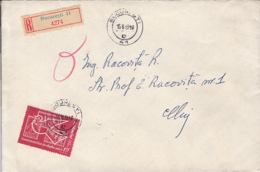PHILATELIC EXHIBITION, STAMP ON REGISTERED BUCHAREST 41-4274 COVER, 1963, ROMANIA - 1948-.... Républiques