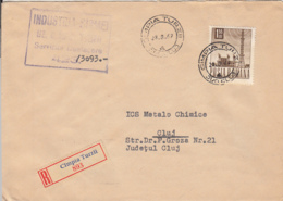 RADIO TOWER, STAMP ON REGISTERED CAMPIA TURZII 893 COVER, 1967, ROMANIA - 1948-.... Républiques