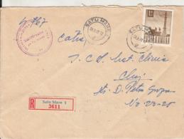 RADIO TOWER, STAMP ON REGISTERED SATU MARE 1-3611 COVER, 1968, ROMANIA - 1948-.... Républiques