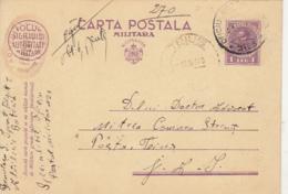 KING CHARLES II, CENSORED MILITARY PC STATIONERY, ENTIER POSTAL, 1940, ROMANIA - Cartas