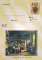 HEALTH, PHARMACY HISTORY, PAINTING, PC STATIONERY, ENTIER POSTAL, 2003, ROMANIA - Pharmacy