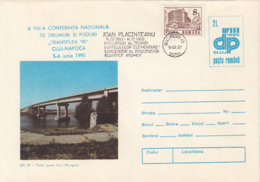 ARCHITECTURE, BRIDGES, MANGALIA LAKE BRIDGE, COVER STATIONERY, ENTIER POSTAL, 1993, ROMANIA - Ponts