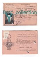 Châteauroux, Carte Du Combattant De Bernard Pournin, Né 27/07/1912, Délivrée En 1958 - Documents
