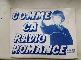 Nivelles Radio Romance103,8 FM - Stickers