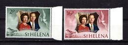 SAINT HELENA    1972    Royal  Silver  Wedding    Set  Of  2    MNH - Saint Helena Island