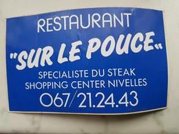 Nivelles Restaurant SUR LE POUCE Spécialiste Du Steck - Stickers