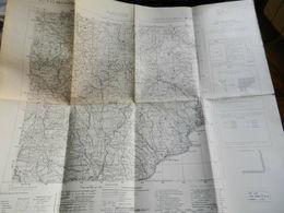 8F) CARTA D'ITALIA VARAZZE  FOGLIO 82 FORMATO  61 X 51 Cm - Carte Topografiche