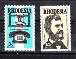 Rhodesia Sud - 1974. Bell, Telefono Antico E Moderno. Antique And Modern Telephone. MNH Complete Set - Telecom