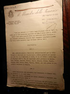 8) MINISTERO DELLE FINANZE 1931 TASSE AFFARI ISTITUZIONE COMMISSIONI TRASFERIMENTO FABBRICATI COMPOSTO DA 17 FOGLI CON F - Decreti & Leggi