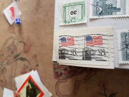 USA FLAG BLOCCO 2 VALORI - Timbres