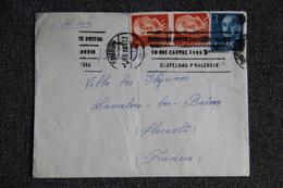 ESPAGNE - Timbres Sur Lettre De BARCELONE Vers FRANCE - 1961-70 Lettres