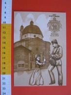 G.2 ITALIA GATTINARA VERCELLI - CARD NUOVA - 2012 200 ANNI UFFICIO POSTALE 1812 CHIESA SAN PIETRO POSTA POSTINO STEMMA - Eglises Et Cathédrales