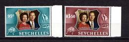 SEYCHELLES    1972    Royal  Silver  Wedding    Set  Of  2    MNH - Seychelles (...-1976)
